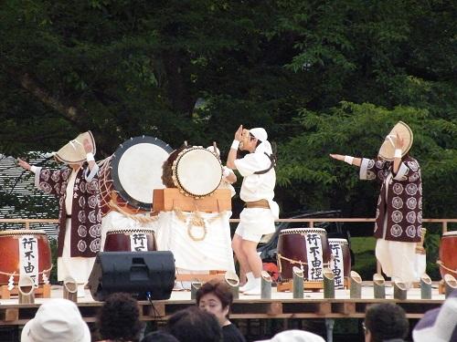 竹あかり 夜 太鼓 弥彦村 イベント