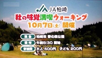 JA柏崎 秋の味覚満喫ウォーキング2017 場所・開催日 イベント