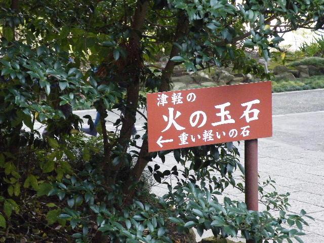 弥彦神社 火の玉石