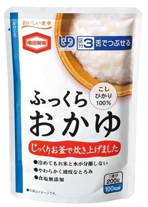 亀田製菓ふっくらおかゆ おもいやり災害食認証制度 認証マーク取得