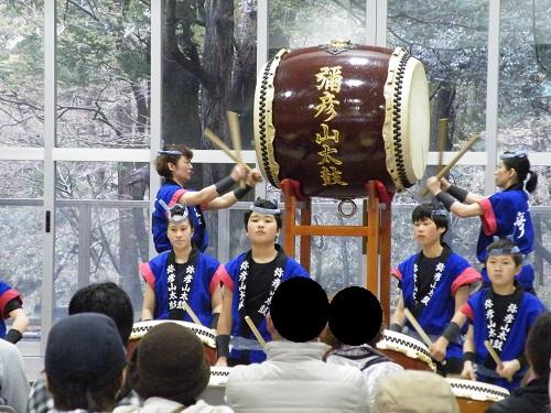 弥彦山太鼓 弥彦ヤホール 桜祭り 2018年