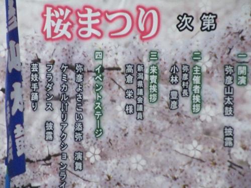 弥彦村・湯かけ祭り・桜祭り 2018年の様子 画像