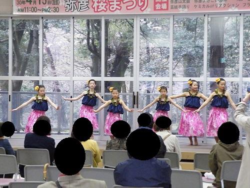2018年4月15日の桜祭りの様子