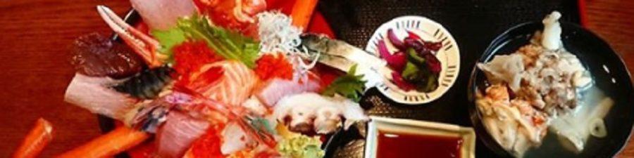 長岡市寺泊で有名な豪快でキレイな満足する海鮮丼のお店 越後楽味亭さざえ