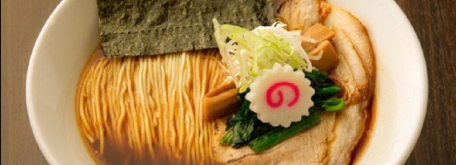 麺がキレイに畳まれてるビジュアル系の長岡生姜醤油ラーメン くまー 新潟市中央区