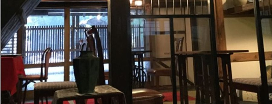新発田市米倉にある古民家カフェ水音の里 矢沢永吉ファン必見!十割そば
