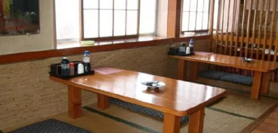 五泉市にある、さといも(帛乙女)麺のパスタが好評の日の出食堂