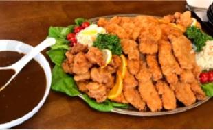 阿賀町メガ盛りフェスタ2019年イベント ほっとハウス 三種のメガ盛り&カレー 30分で完食無料