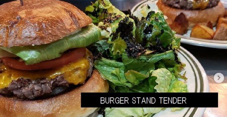 BURGER STAND TENDER ブラックアンガスビーフを使用バーガー テイクアウト 新潟市中央区東中通