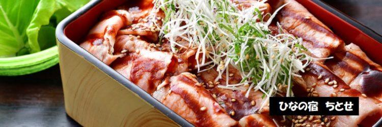 湯治豚重定食 ひなの宿 ちとせ 新潟県十日町市松之山温泉