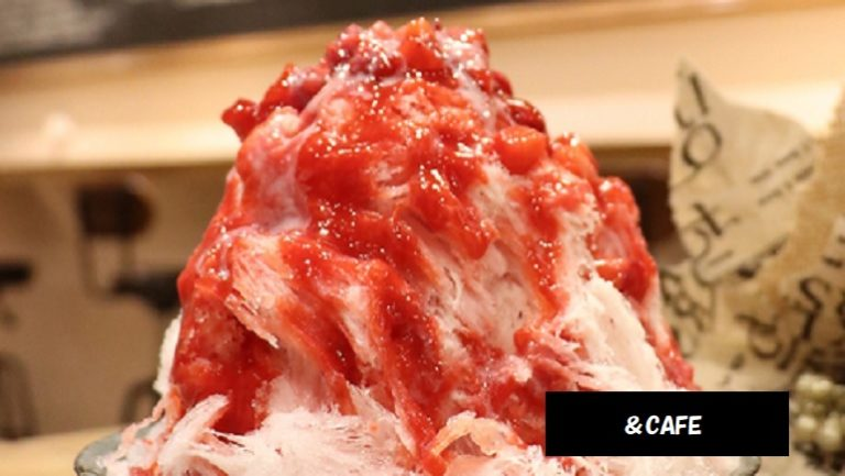 いちごかき氷 まるごと白桃パフェ プレミアムメロン9月末頃まで提供予定 &CAFE 新潟市中央区弁天 新潟駅スイーツ
