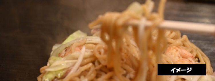 ソースや酢を後がけして食べる焼きそば 麺工房 なべなか 新潟県村上市安良町