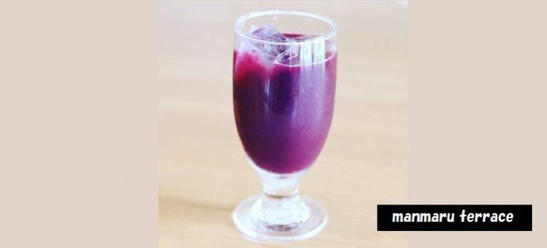 ぶどう園が経営するカフェ マンマルテラス 酒石酸入りぶどうジュース シフォンクリームサンド 新潟県上越市三和区北代