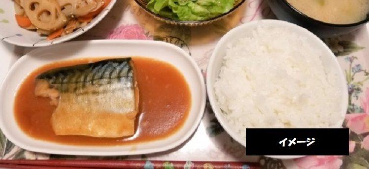 瓢湖白鳥会館 キッチン自然堂 農家のお母さんが作る味 鯖味噌煮定食 新潟県阿賀野市