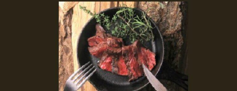 ダッチオーブンで牛ハラミのグリル 新潟市中央区東大通